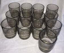 Lot 13 Vintage Tupperware Acrylic Smoke Gray 10 oz Stacking Tumbler Glass 1672