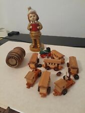 Vintage Antique Lot Toys Wood /train and more