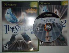 TimeSplitters 2 (Microsoft Xbox, 2002) COMPLETE w/ Manual