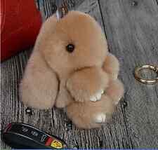 Hot Cute Bunny Rex Rabbit Fur Phone Car Pendant Handbag Charm Key Chain Ring Pom