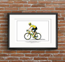 Sir Bradley Wiggins - Tour de France winner ART POSTER A2 size