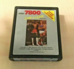 One-on-One Basketball (Atari 7800, 1987) GAME CARTRIDGE ONLY ~TESTED~