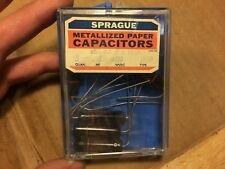 5 NOS NIB Vintage Sprague Black Beauty .02 uf 600v Capacitors 155P Guitar Tone