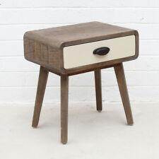 Retro Modern Design Natural Timber Side Table Bedside Nightstand Replica