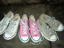 Vintage  - Lot (3) RETRO Pairs - GIRLS Kids CONVERSE All-Star Shoes  Size 6