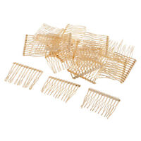 20x Metal Hair Combs Clips 12 Teeth for DIY Wedding Bridal Veil Hair Jewelry