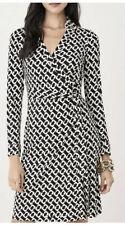DVF Diane Von Furstenberg Jeanne Two Silk-Jersey Chains Wrap Dress Size 0