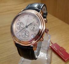 Mens Krug-Baumen Principle Rose-Gold & Champagne Gents Diamond Watch 150577 BNiB