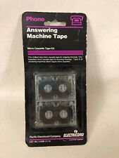 Vtg NEW Phone Answering Machine Micro Cassette Tape Kit Pacific Electricord Co.