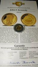 LIBERIA Afrika 1993 - 20 Dollars - 999 Gold 1,244g Münze 1/25 - JOHN F. KENNEDY