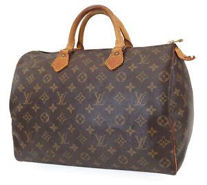 Authentic LOUIS VUITTON Speedy 35 Monogram Boston Handbag Purse #40394A