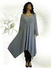 PoCo DeSiGn LAGENLOOK Kurz-Kleid Ballonkleid Long Shirt Tunika Kaftan L-XL-XXXL