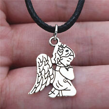 20Pcs Silver Girl Kids Baby Praying Angel Pendant Charms For DIY Jewelry Craft
