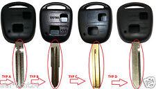 1x Schlüssel Gehäuse Zwei T. TOYOTA Aygo Corolla Avensis RAV Rohling TYP A B C D