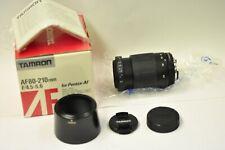 Tamron 80-210mm f4.5-5.6 Pentax PKA auto focus lens w/accessories. New