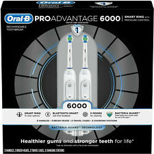 Oral-B ProAdvantage 6000 SMART Rechargeable Toothbrush 5-Cleaning Modes (2-Pack)