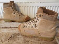 Original British Army Issue Leather Lowa Elite Desert Combat Boots - Size UK 11