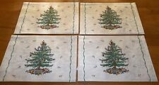 Set of 4 Spode Christmas Tree Cotton Polyester Placemats