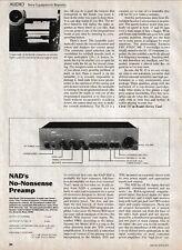 NAD/Carver - 1020 Preamp/C-8 Hologram Gen - Original Magazine Test Report -1981