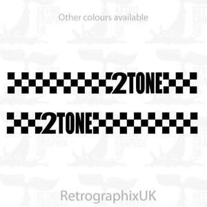 Vespa PX 2 Tone graphics   stickers    Ska Checks   skinhead mod