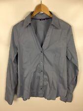 MEXX Bluse, Größe 40, blau, Baumwolle