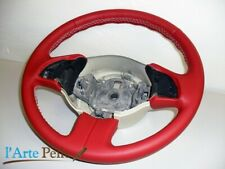 Fiat 500 Steering Cover Genuine Leather Red White Stitching