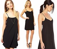 Ladies size 10 12 14 new Black swing dress top strappy long cami top dress