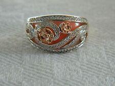 Clogau 18ct Welsh Gold Tudor Rose Pink Opal & Diamond Ring RRP £2,200.00 size P