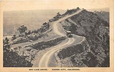 Canon City Colorado~Sky Line Drive~Vintage Car on Winding Road~1920s Albertype