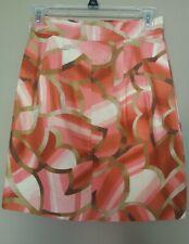 MISSONI Cotton Blend Abstract Beige Orange Pinks Skirt Size 40