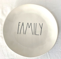 "Rae Dunn Ceramic ""FAMILY"" Round Plate  Brand New!"