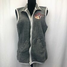 LOONEY TUNES WOMENS 14/16 GRAY FLEECE TASMANIAN DEVIL WILD THING VEST