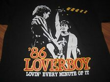 Loverboy 1986 Lovin Every Minute Of It Tee Unused Medium