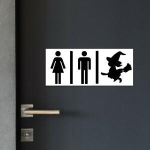 Novelty WITCH Toilet Door Sticker/Party Decoration HALLOWEEN BIRTHDAY POTTER