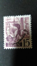 FRANCE 1947 OCCUPATION ALLEMAGNE BADE, timbre 5, BODENSEE oblitéré, VF STAMP