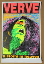 VERVE A Storm In Heaven 1993 Silkscreened KOZIK Promo POSTER Signed & Numbered