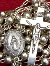 Vintage Sterling Silver Our Lady of Lourdes Shrine Pilgrimage Catholic Rosary