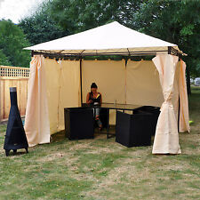 Kingfisher High Quality Durable Garden Gazebo with Side Curtains