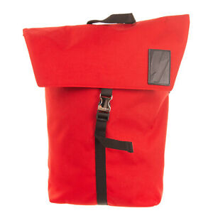 RRP €355 NEIL BARRETT Flap Backpack Large Lightning Bolt Patch Made in Italy