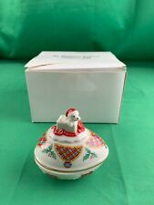 Lenox China The Christmas Surprise Collector Egg Trinket Dish