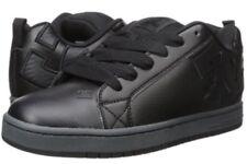 DC Shoes Court Graffik SE Skate Baskets. Cuir Noir, sz 6.5 uk, 40 EU, nouveau
