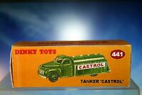 Dinky vintage styled Castrol Tanker No. 441 Reproduction Box