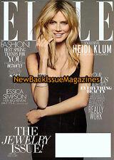 Elle 4/12,Heidi Klum,Subscription Cover,April 2012,NEW