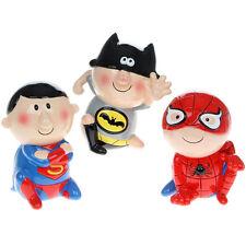 Spiderman Batman Superman tirelire épargne Tirelire Cadeau pièces NOUVEAUTÉ MARVEL