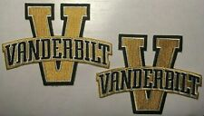 "vanderbilt patch University  VU commodores patch iron-on 4"" tall 2 pc. lot"
