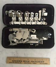 Vintage Rotary Greist Sewing Machine Attachments With Metal Box - FREE SHIPPING