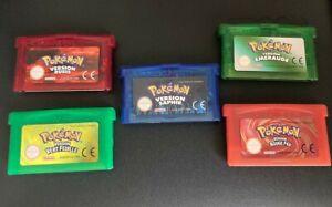 Nintendo - Game Boy advance - GBA - Pokémon - Rouge vert émeraude saphir rubis