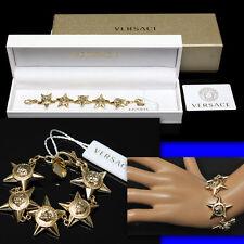 GIANNI VERSACE Gold MEDUSA STAR BRACELET w/ Box & Certificate