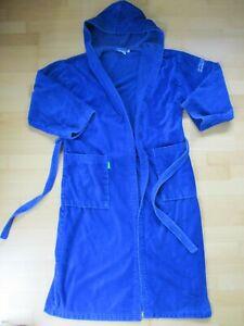 Benetton Damen Bademantel Frottee Grösse M dunkelblau mit Kapuze