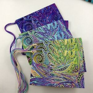 Small Cards 6 Gift Tags With String 3 Designs Gift Wrap Item Labels Rainbow Card
